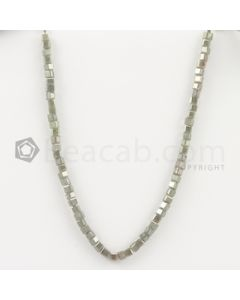 3.50 to 4 mm - Medium Tones Diamond Cube Beads - 8 inches - 31.00 carats (FncyDiaCu1029)