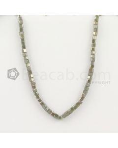 3.50 to 4 mm - Medium Tones Diamond Cube Beads - 8.125 inches - 37.50 carats (FncyDiaCu1031)
