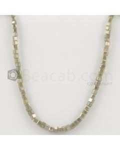 2.70 to 3.40 mm - Medium Tones Diamond Cube Beads - 7.5 inches - 26.00 carats (FncyDiaCu1041)