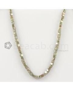 3 to 4 mm - Medium Tones Diamond Cube Beads - 8.125 inches - 34.00 carats (FncyDiaCu1042)