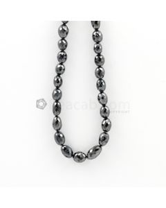 6.70 to 11 mm - Black Diamond Drum Beads - 111.50 carats (BDiaDrm1006)