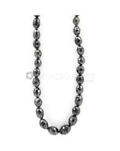 6.50 to 11 mm - Black Diamond Drum Beads - 161.00 carats (BDiaDrm1017)