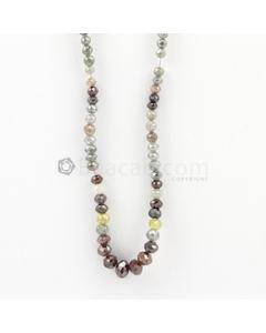 2 to 7 mm - Medium Tones Diamond Faceted Beads - 60.00 carats (FncyDia1010)