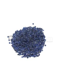 2.50 mm - Medium Blue Round Sapphire Cabochons - 535 pieces - 41.43 carats (SaCab1002)