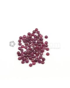 3.40 to 3.60 mm - Dark Red Round Ruby Cabochons - 85 pieces - 18.84 carats (RuCab1067)
