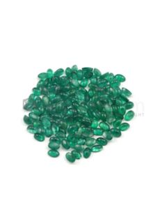 5 x 3 mm - Medium Green Oval Emerald Cabochons - 125 pieces - 30.40 carats (EmCab1021)