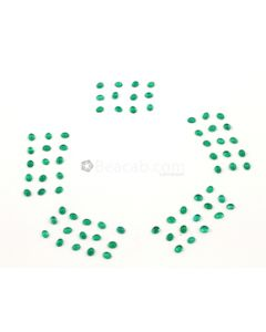 5 x 4 mm - Medium Green Oval Emerald Cabochons - 72 pieces - 24.76 carats (EmCab1022)