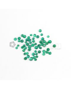 3 to 4.70 mm - Medium Green Round Emerald Cabochon - 58 pieces - 13.98 carats (EmCab1090)