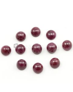 10 mm - Medium Red Ruby Round Shape Cabochons - 11 pieces - 73.71 carats (RuCab1105)