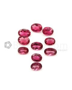 8.10 x 6 mm to 9.90 x 6.70 mm - Medium Pink Tourmaline Oval Cut - 10 Pieces - 15.29 carats (ToCS1129)