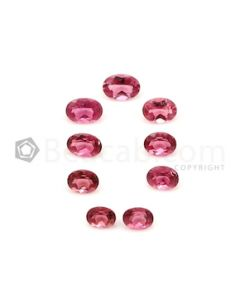 5.40 x 4.20 mm to 6.80 x 4.80 mm - Medium Pink Tourmaline Oval Cut - 9 Pieces - 5.33 carats (ToCS1138)