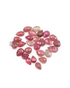 9.30 x 6.30 mm to 13 x 8 mm - Dark Tones Multi-Sapphire Pear Rose Cut Gemstones - 27 Pieces - 81.50 carats (MSRC1013)