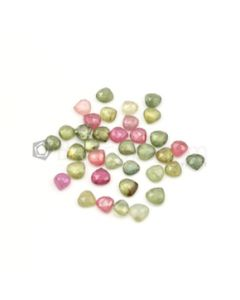 5.80 x 6 mm to 6.70 x 7 mm - Dark Tones Multi-Sapphire Pear Rose Cut Gemstones - 36 Pieces - 38.00 carats (MSRC1016)