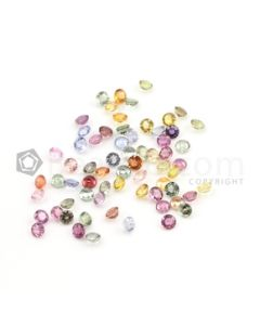4 mm - Medium Tones Multi-Sapphire Round Cut Stones - 68 Pieces - 25.24 carats (MSCS1014)
