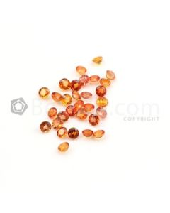4 mm - Medium Orange Multi-Sapphire Round Cut Stones - 30 Pieces - 10.89 carats (MSCS1020)