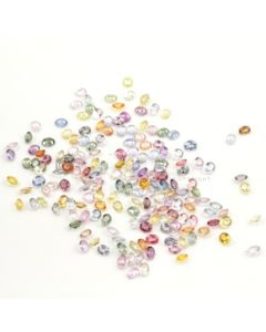 5 x 4 mm - Light Tones Multi-Sapphire Oval Cut Stones - 178 Pieces - 83.35 carats (MSCS1030)