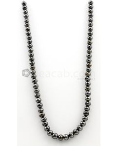7.00 to 8.30 mm - Black Diamond Faceted Beads - 1 Line - 210.37 carats - BDIA1032