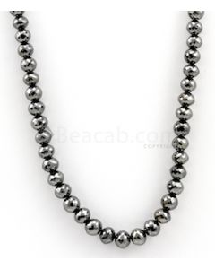 7.00 to 8.30 mm - Black Diamond Faceted Beads - 1 Line - 208.44 carats - BDIA1033