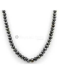 4.50 to 6.30 mm - Black Diamond Faceted Beads - 1 Line - 104.77 carats - BDIA1037