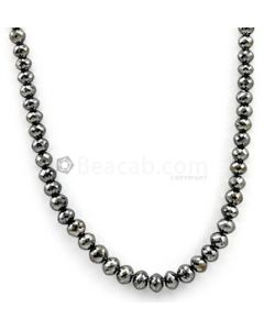 4.50 to 6.50 mm - Black Diamond Faceted Beads - 1 Line - 104.55 carats - BDIA1038