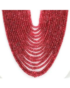 2.50 to 6.50 mm - Medium Purple-Red Spinel Faceted Beads - 15 Lines - 741.05 carats - SPNFB1001