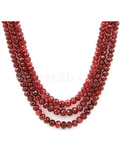 3.00 to 6.00 mm - Medium Purple-Red Spinel Faceted Beads - 3 Lines - 207.95 carats - SPNFB1003