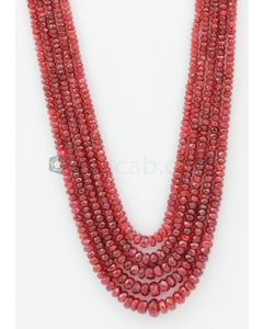 3.00 to 8.00 mm - Medium Purple-Red Spinel Faceted Beads - 5 Lines - 340.50 carats - SPNFB1004