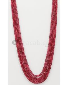 3.50 to 5.50 mm - Medium Purple-Red Spinel Faceted Beads - 4 Lines - 296.00 carats - SPNFB1009