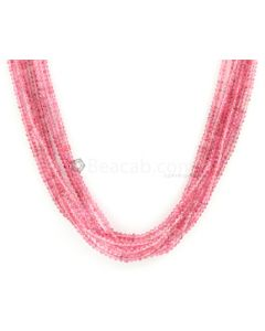 2.00 to 2.50 mm - Medium Purple-Red Spinel Smooth Beads - 6 Lines - 143.85 carats - SPNSB1002