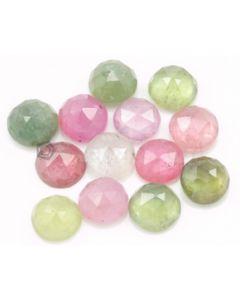 7.00 mm - Medium Tones Multi-Sapphire Round Rose Cut - 13 Pieces - 21.50 carats - MSRC1051