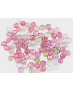 5.00 mm - Medium Tones Multi-Sapphire Round Rose Cut - 87 Pieces - 59.50 carats - MSRC1053