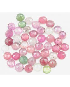 6.00 mm - Medium Tones Multi-Sapphire Round Rose Cut - 46 Pieces - 53.00 carats - MSRC1054