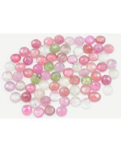 5.50 to 6.70 mm - Medium Tones Multi-Sapphire Round Rose Cut - 72 Pieces - 64.00 carats - MSRC1055