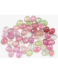 5.60 x 4.80 to 5.90 x 4.70 mm - Medium Tones Multi-Sapphire Oval Rose Cuts - 54 Pieces - 38.00 carats - MSRC1057