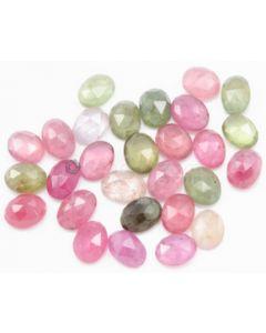 6.90 x 5.40 to 7.50 x 5.70 mm - Medium Tones Multi-Sapphire Oval Rose Cuts - 30 Pieces - 37.50 carats - MSRC1058