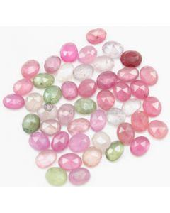 5.90 x 4.70 to 6.50 x 5.30 mm - Medium Tones Multi-Sapphire Oval Rose Cuts - 50 Pieces - 41.50 carats - MSRC1060