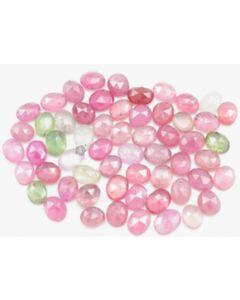 6.00 x 5.00 to 7.20 x 5.50 mm - Medium Tones Multi-Sapphire Oval Rose Cuts - 60 Pieces - 70.50 carats - MSRC1067