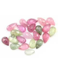 6.80 X 4.20 to 9.00 x 4.50 mm - Medium Tones Multi-Sapphire Pear Rose Cuts - 23 Pieces - 18.00 carats - MSRC1069