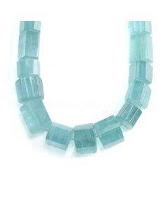 1 Line - Medium Blue Aquamarine Hexagonal Beads - 2152.60 cts - 25 x 19.2 mm to 23 x 30 mm (AQHEXB1005)