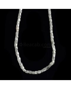 1 Line - Gray Diamond Faceted Cube Beads - 44.70 cts. - 3 x 2 mm to 4 x 3 mm (FNCYDIA1043)