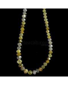 1 Line - Medium Fancy Diamond Faceted Beads - 31.21 cts. - 2.2 to 4.5 mm (FNCYDIA1066)