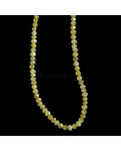1 Line - Dark Fancy Diamond Faceted Beads - 21.75 cts. - 2.1 to 3.9 mm (FNCYDIA1067)