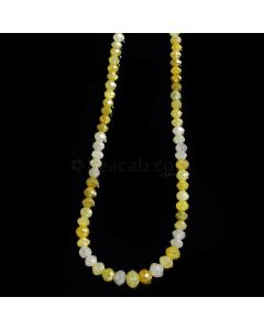 1 Line - Medium Fancy Diamond Faceted Beads - 30.85 cts. - 2.2 to 4.5 mm (FNCYDIA1070)