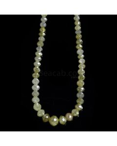 1 Line - Light Fancy Diamond Faceted Beads - 27.30 cts. - 2 to 5 mm (FNCYDIA1080)