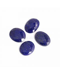 4 Pcs - Blue Lapis Lazuli Rose Cut - 155.31 ct. - 29 x 24 x 6 mm to 31 x 23 x 7 mm (LAPRC1008)