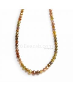 1 Line - Fancy Color Diamond Faceted Beads - 37.02 ct. - 2.9 to 4.8 mm (FNCYDIA1082)