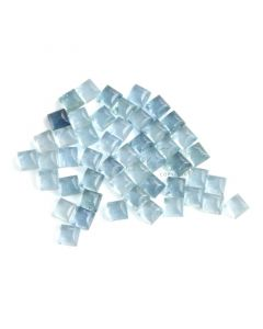 49 Pcs - 41.88 ct. -Medium Blue Aquamarine Sugarloaf Cabochon - 5 x 5 x 3 mm (AQCAB1058)