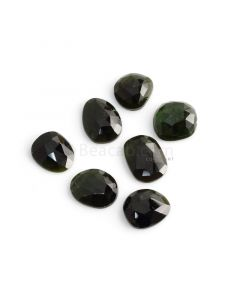 7 Pcs - 34.1 ct. - Green Tourmaline Rose Cut -11.5 x 10.6 x 4.4 mm to 14.5 x 10.8 x 3.3 mm (TRC1078)