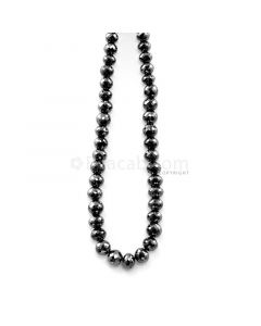 1 Line - 102.09 ct. - Black Diamond Faceted Beads - 4.10 to 6.30 mm - 15 in. (AABDIA1061)