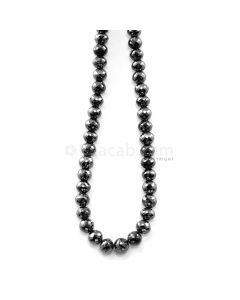 1 Line - 157.58 ct. - Black Diamond Faceted Beads - 5.90 to 7.10 mm - 15 in. (AABDIA1065)